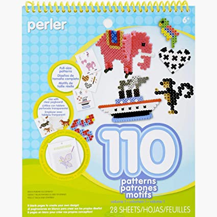 Perler Beads Patterns and Idea Book for Kid's Crafts, 28 pgs