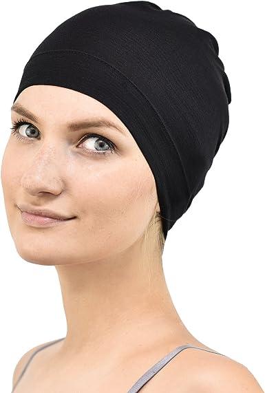 Suitable for Chemo /& Hair Loss Black Jasmine Silk Bamboo Sleep Cap