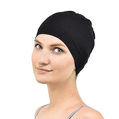 Jasmine Silk Bamboo Sleep Cap - Suitable for Chemo   Hair Loss (Black) 124e1934f5b