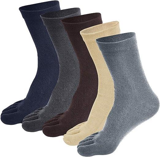 Soumit - Calcetines de algodón para Dedos Separados (39-44 ...