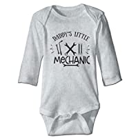 NMDJC CCQ Daddy's Little Mechanic Baby Bodysuit Humor Onesie Cotton Outfits