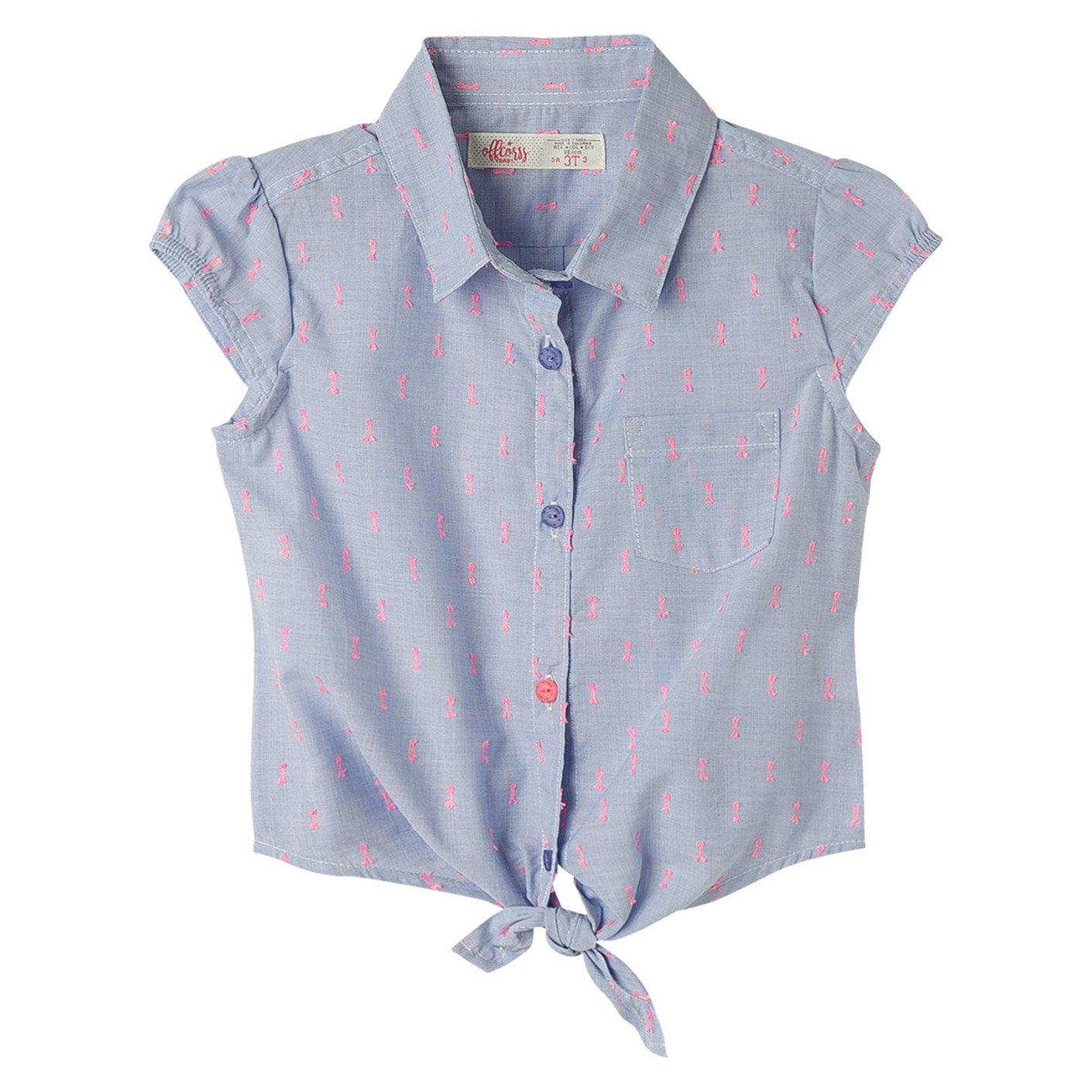Amazon Offcorss Toddler Girls Sleeveless Collared Shirt Blouse