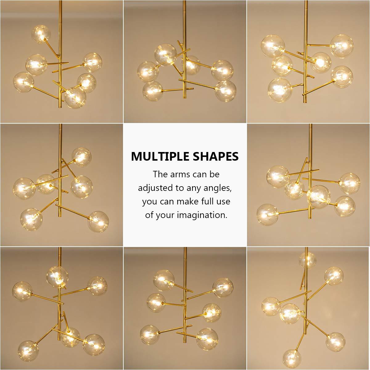 CHEAP Modern Sputnik Chandelier 6 Lights Mid Century Brass ...