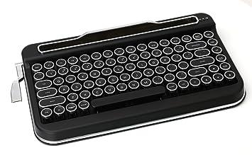 Amazon.com: Penna - Teclado Bluetooth (cromado), color negro ...