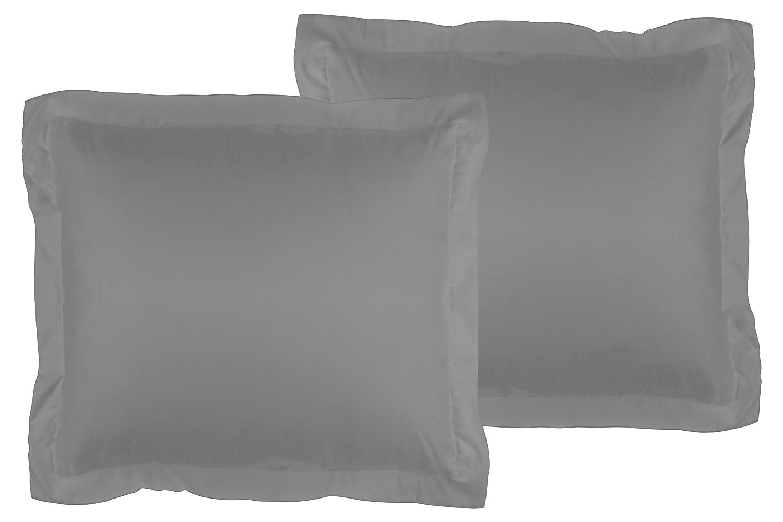 La Vie Moderne Premium 1800 Thread Count Microfiber Euro Shams (26 x 26 inch) | Set of 2 | White