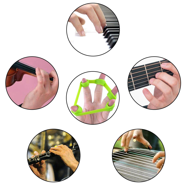 3/tama/ños euhuton 3/pcs silicona dedo dise/ño de bandas de resistencia mano extensor ejercitador dedo rehabilitaci/ón dispositivo de formaci/ón 3/kg//8.8Ib 4/kg//6.6ib 5/kg//11IB