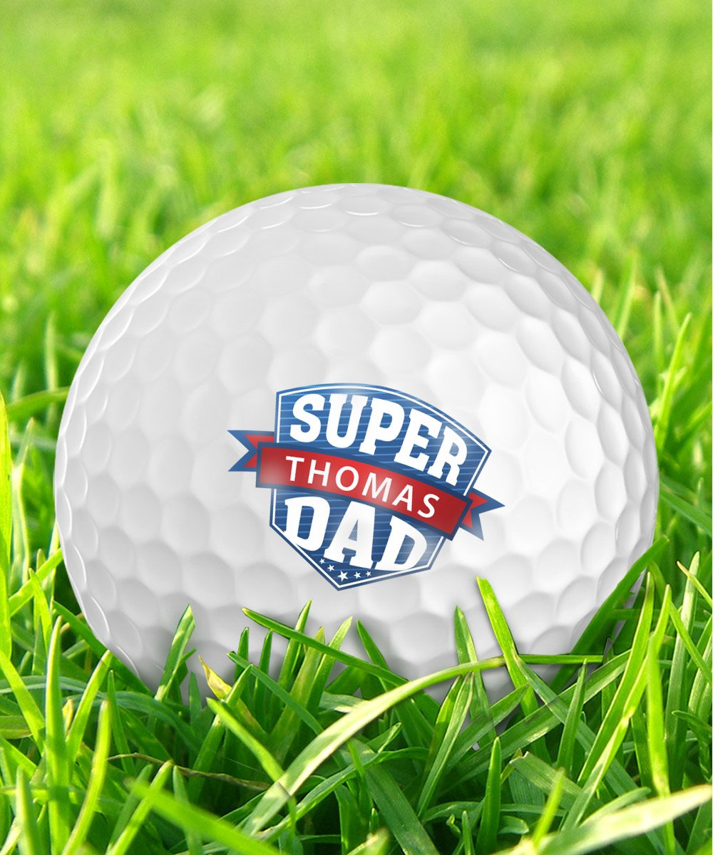 Infusion Father's Day Super DAD Golf Balls - Personalize The Name (12 Balls)