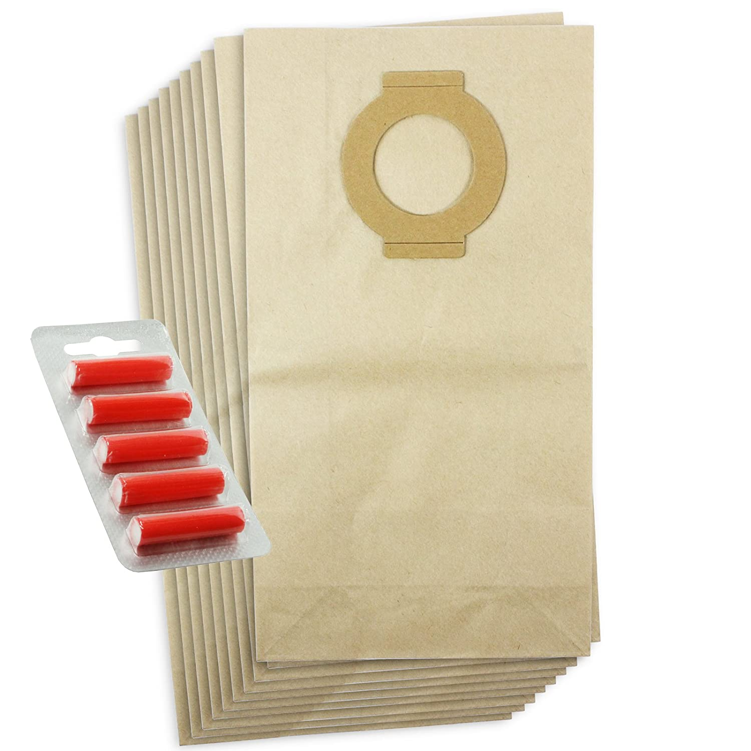 First4spares Type H16 Dust Bags for Hoover Aquamaster Vacuum Cleaners (10 Pack + 5 Bag Freshener Sticks)