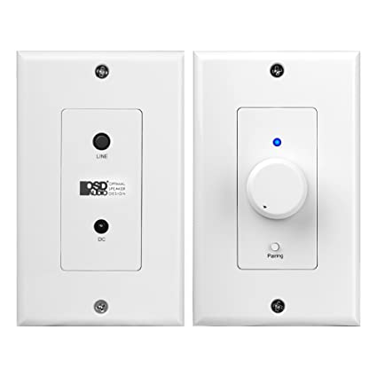 XWB50 in Wall 50W Amplifier w/Bluetooth Wireless, 3 5mm Local Source Aux  Input, Power Plug Decora Plates, Including All Connecting Cables and Power