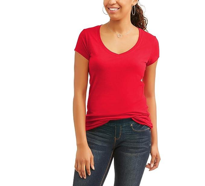 cea88f9d129e No Boundaries Juniors  Everyday Short Sleeve V-Neck Tee T-Shirt (Medium