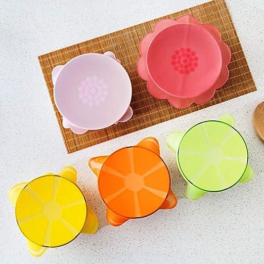 Tummop Tapas de Silicona con Ventosa para microondas, Cubiertas ...