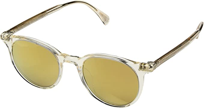 ee73e920d6bb2 Amazon.com  Oliver Peoples Unisex Delray Sun Buff Amber Gold Tone ...