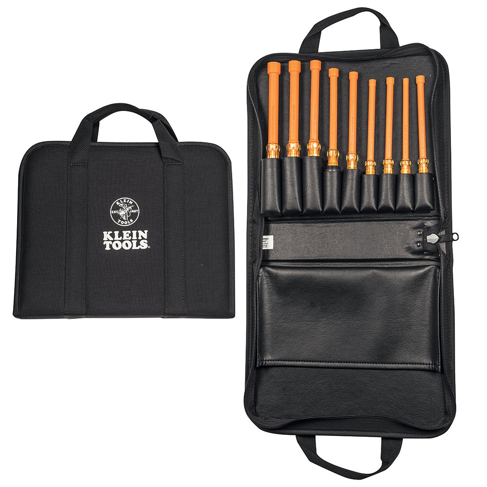 Insulated Nut Driver Set with Case, 9-Piece Klein Tools 33524