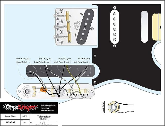 Nashville Tele Wiring Diagram For Guitar
