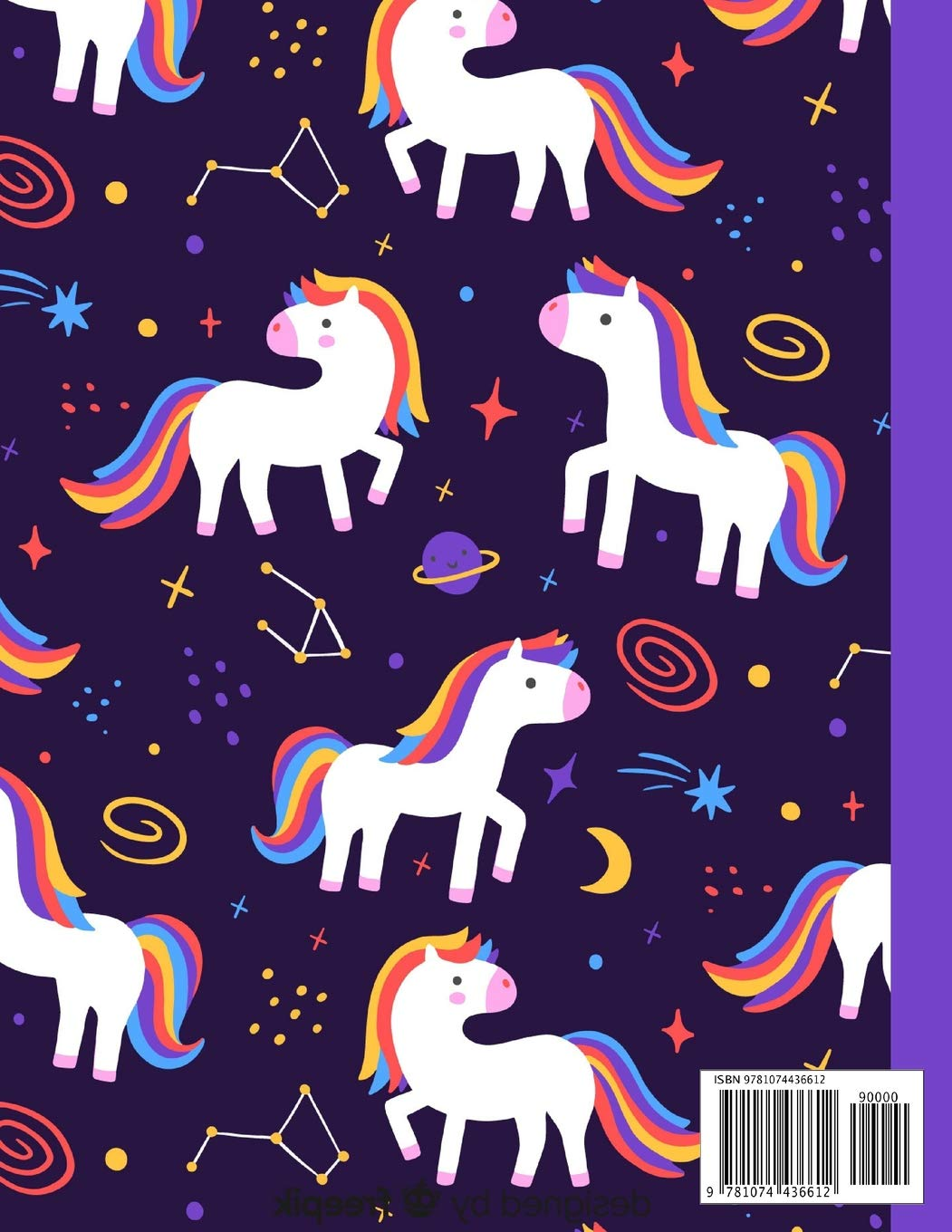 Unicorns and Stars Sketchbook: Large Blank Sketchbook with ...