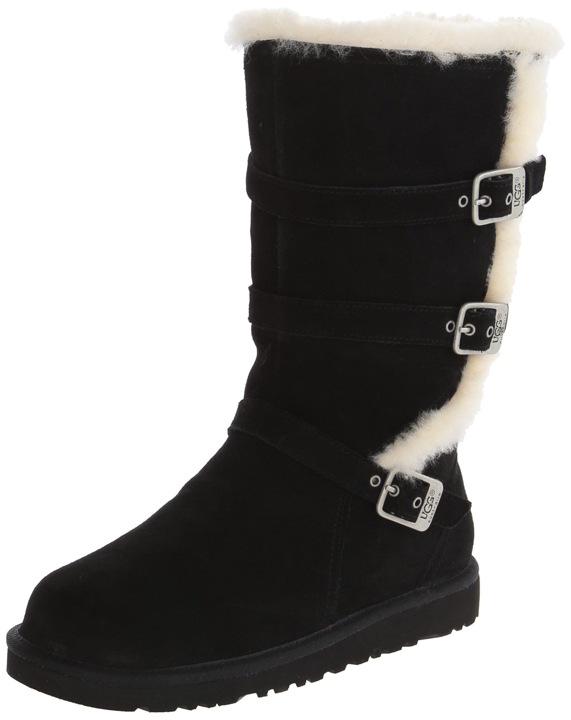 UGG Australia Girls Maddi Black Winter Boot - 6 by UGG