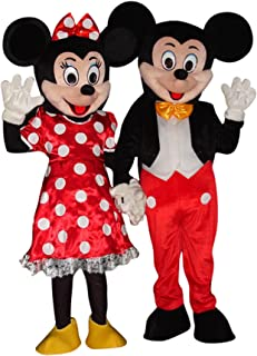 Sinoocean Mickey Mouse and Minnie Mouse Adults Mascot Costumes Fancy Dress Outfits  sc 1 st  Amazon.com & Amazon.com: Minnie Mouse Mascot Cartoon Character Adult: Toys u0026 Games
