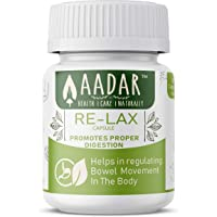 AADAR Herbals Re-LAX Capsules for Constipation Relief, Acidity, Bowel Wellness and Gastric Problems (60)
