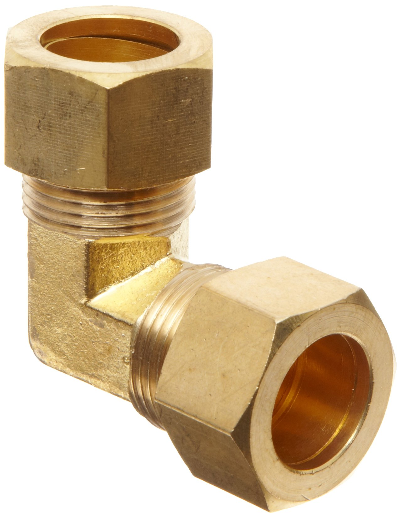 Anderson Metals Brass Tube Fitting, Elbow, 3/4'' x 3/4'' Compression