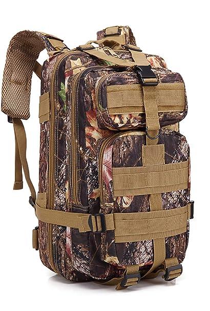 zhang-hongjun,30L hombro 3P mochila táctica ejército fan montañismo senderismo mochila multicolor opcional(color:Camuflaje De La Hoja De Arce): Amazon.es: ...