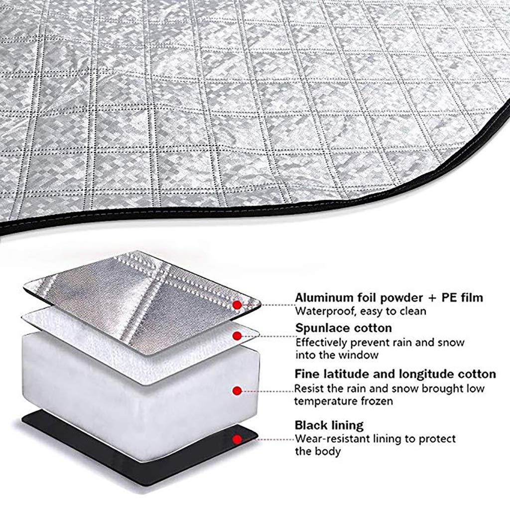 gr/ö/ße : 148 * 125cm Xx Auto-Windschutzscheibenabdeckung Magnetischer Windschutzscheibenschutz Frostschutz-Sonnenschutz Eisschutz-Markise Windschutzscheiben-Staubschutz