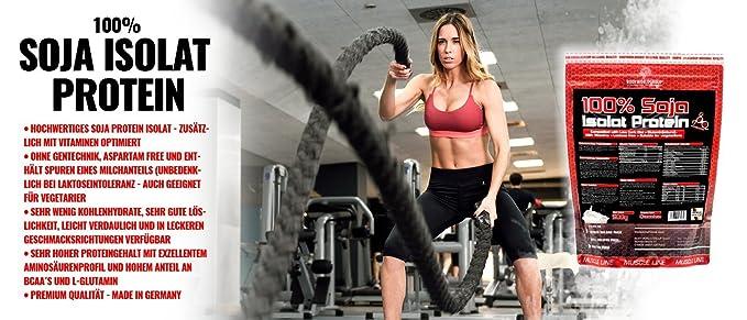 Body worldg roup 100% PE proteína de soja, Muscle Line, 1er Pack (1 x 500 g): Amazon.es: Salud y cuidado personal
