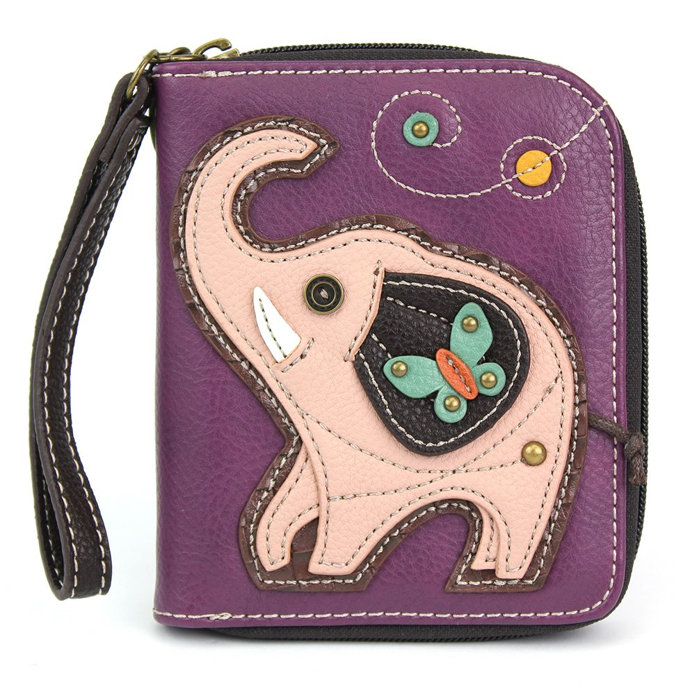 Chala Pal Zipper Wallet Collection (Elephant- Purple), Small by CHALA