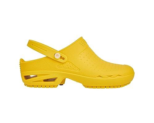 Bloc fermée - Chaussure professionnelle WOCK - Stérilisable, Antidérapante, Absorption des chocs, Lavable - Fuchsia - EUR: 40