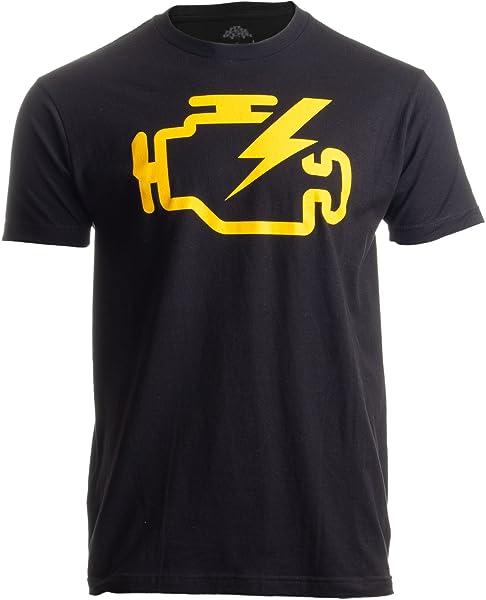 Check Engine Light Funny Mechanic Macanic Machanic Car Clothing Tshirt