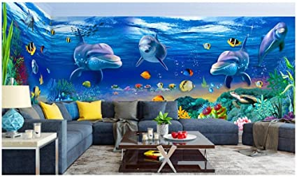 chan mei custom mural photo 3d wallpaper the dream undersea dolphinimage unavailable image not available for colour chan mei custom mural photo 3d wallpaper the dream undersea dolphin