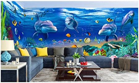 chan mei custom mural photo 3d wallpaper the dream undersea dolphin
