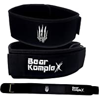 "Bear KompleX 4"" Straight Weightlifting Belt for Powerlifting"