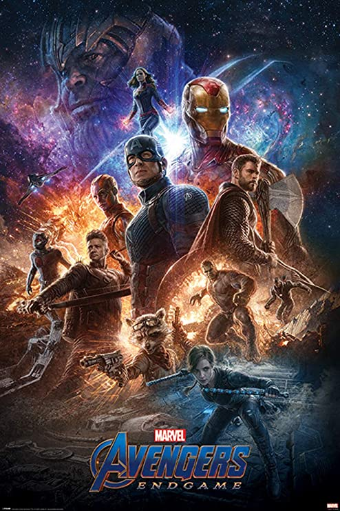 CHOOSE YOUR SIZE FREE P+P Captain Marvel Poster NEW 2019 Marvel Movie Avengers