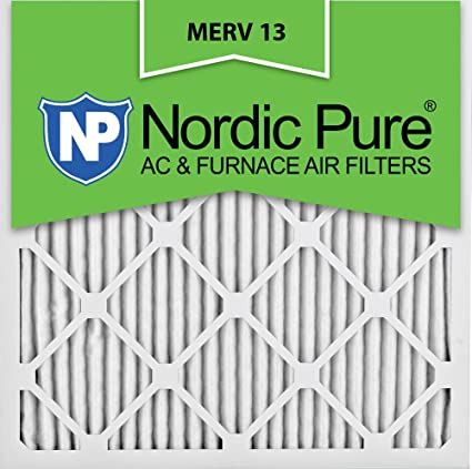 nordic pure 24x24x1m13-6 24x24x1 merv 13 pleated ac furnace air ...