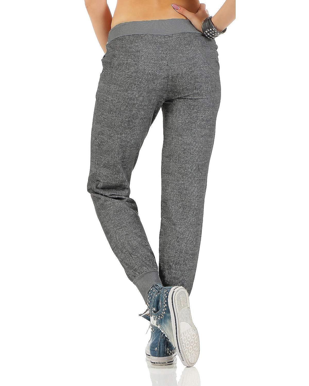 Zarmexx Pantalon Sueur des Femmes à la Mode Bouffante Copain Pantalon  Casual Pantalon de Sport en ... 50abd21cc6d