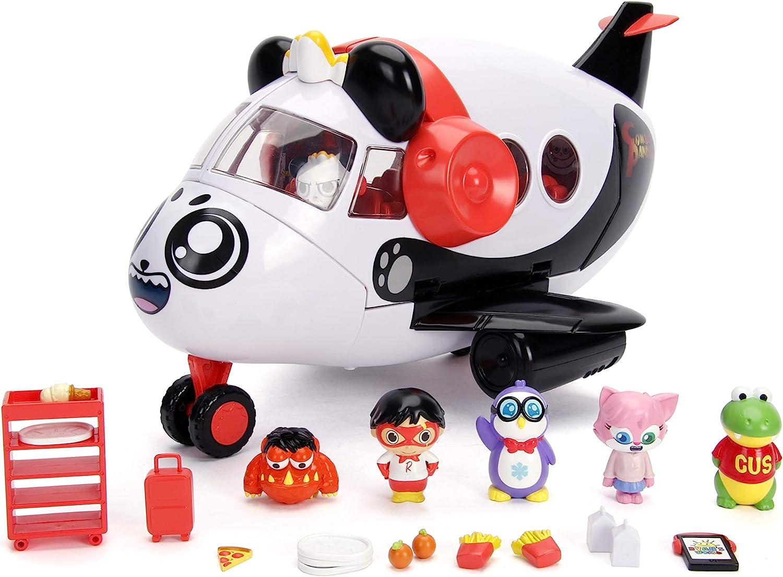 amazon com jada toys ryan s world combo panda airlines playset white large toys games jada toys ryan s world combo panda airlines playset white large