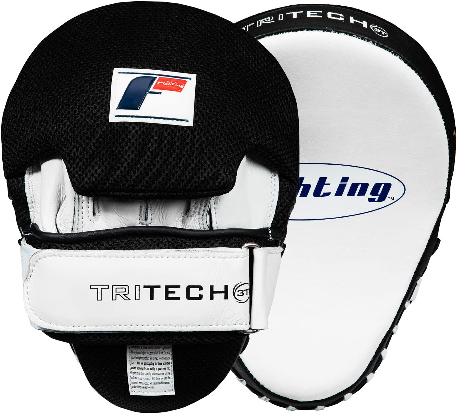 Fighting Sports tri-tech Curved Mitts ホワイト/ブラック