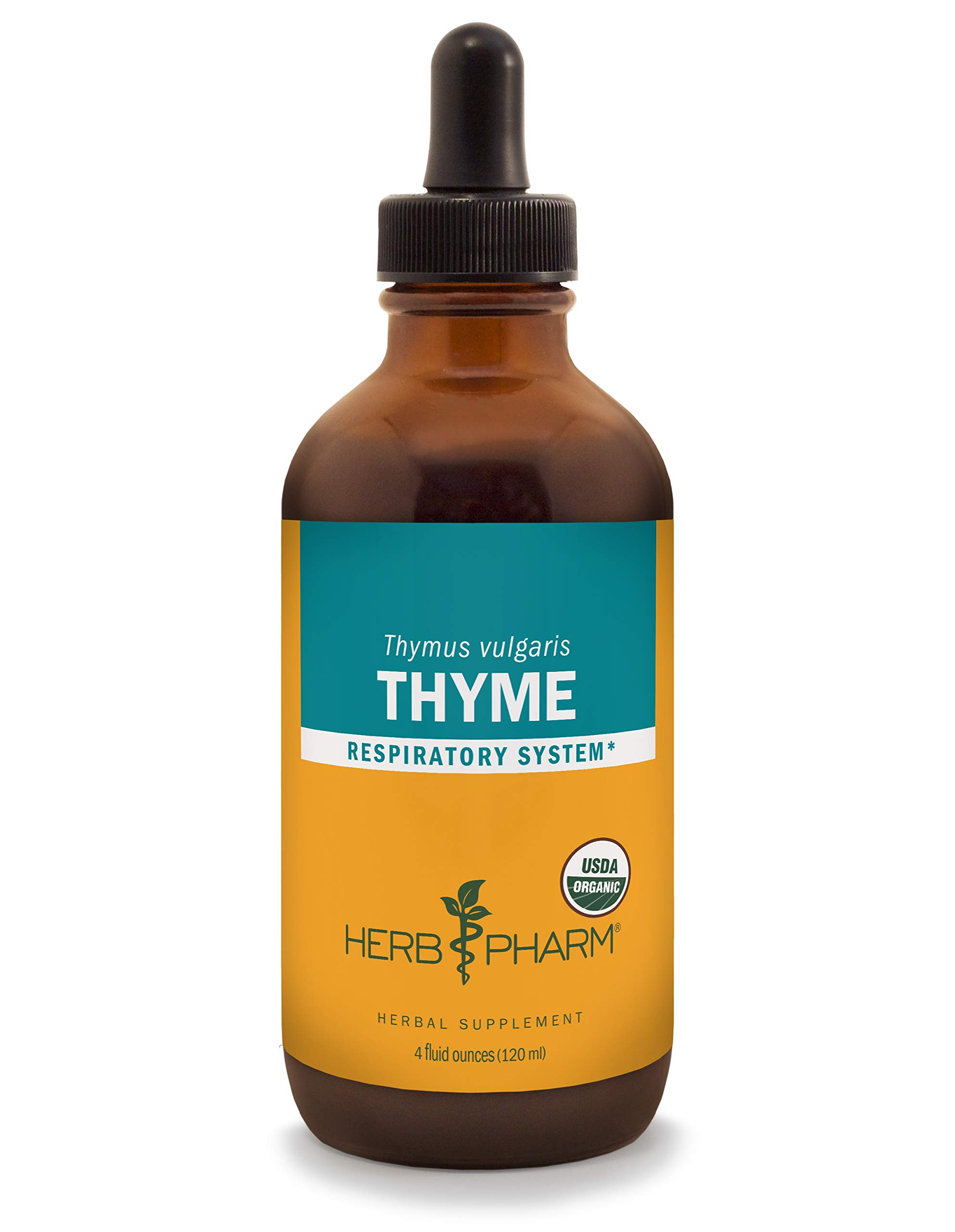Herb Pharm Certified Organic Thyme Liquid Extract for Respiratory System Support - 4 Ounce