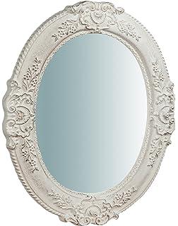 Espejo De Pared Plata Envejecida Ovalado 45 X 38cm Barroca Antiguo Reproducción Arte Y Antigüedades Espejos