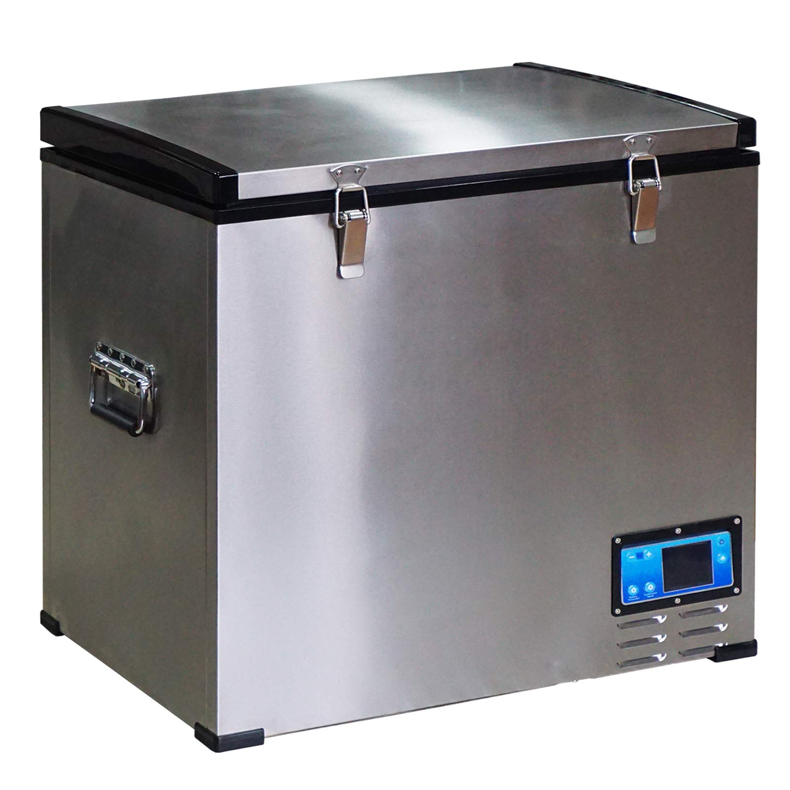 HOMCOM 12V/24V Portable Car Freezer Refrigerator Mini Fridge Cooler - 60 Liter