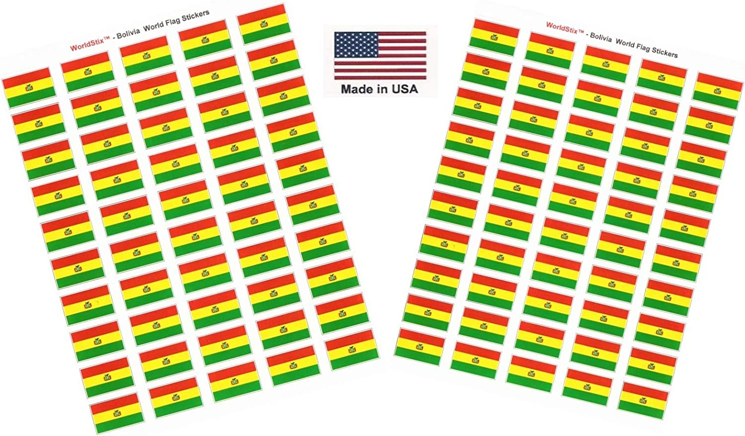 Made in USA New Zealand 100 International Sticker Decal Flags Total Two Sheets of 50 100 Country Flag 1.5 x 1 Self Adhesive World Flag Scrapbook Stickers