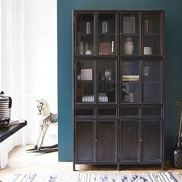 Tikamoon Anna Solid Mahogany Kitchen Cabinet 120 Amazon Co Uk