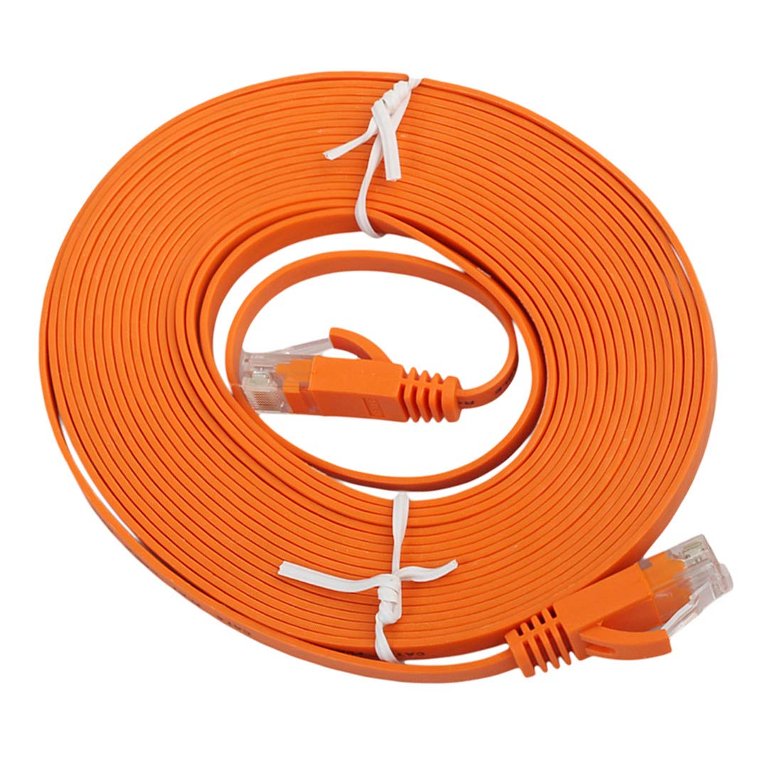 Color : Orange Patch Lead RJ45 Black Networking Accessories 5m CAT6 Ultra-Thin Flat Ethernet Network LAN Cable