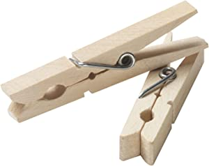 Household Essentials Clothespins Birch 96pc, Bag of 96