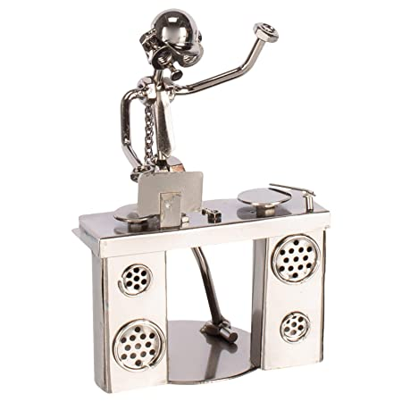 6 Disc Jockey Metal Figurine