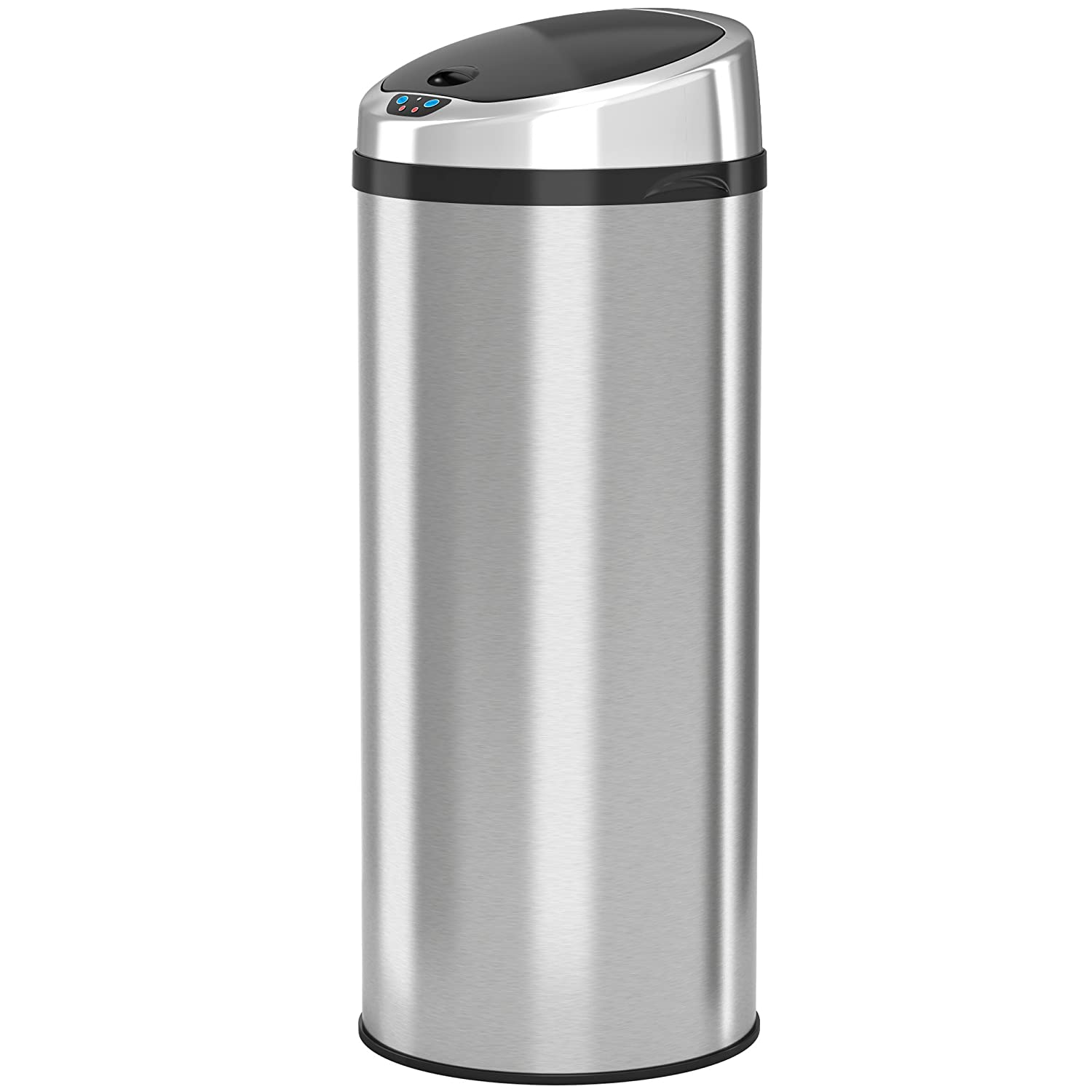 iTouchless Automatic Touchless Sensor Kitchen Trash Can - Stainless Steel   13 Gallon / 49 Liter