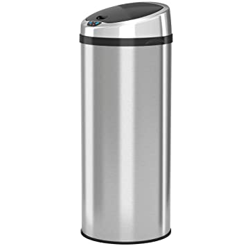 ITouchless Automatic Touchless Sensor Kitchen Trash Can   Stainless Steel U2013  13 Gallon / 49 Liter