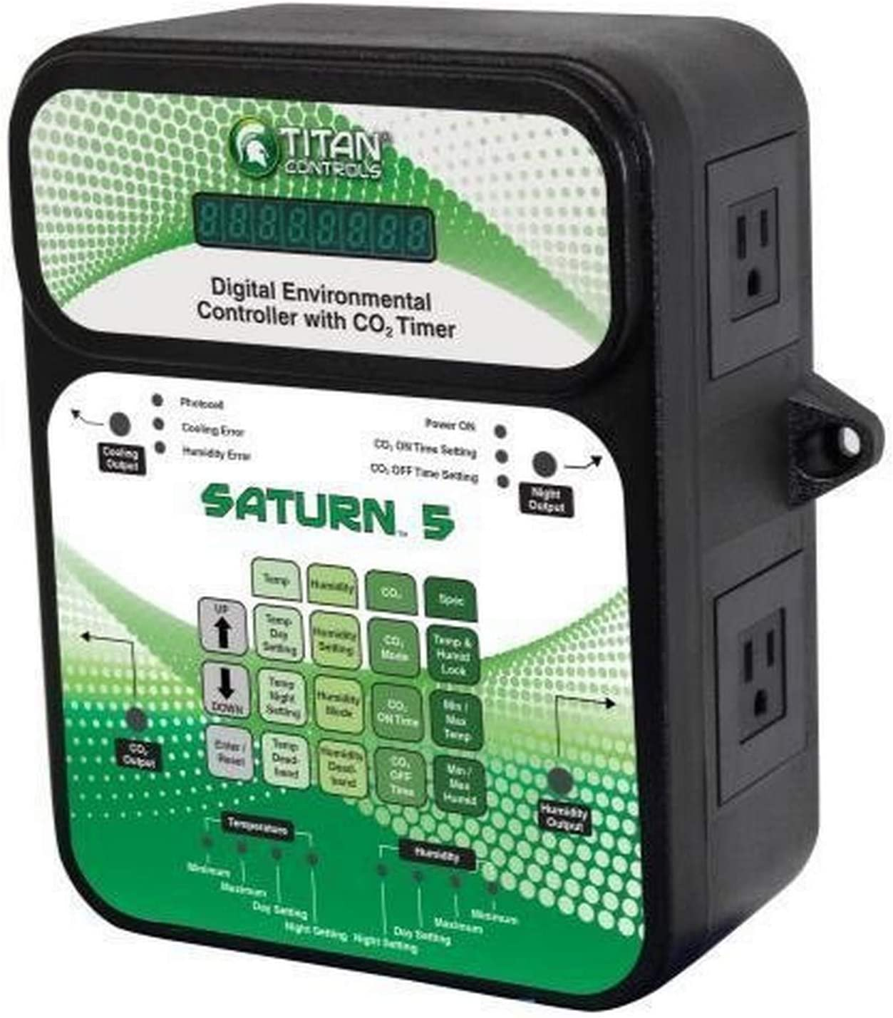Titan Controls Classic Series Saturn 5 Digital Environmental Controller w/ CO₂ Timer