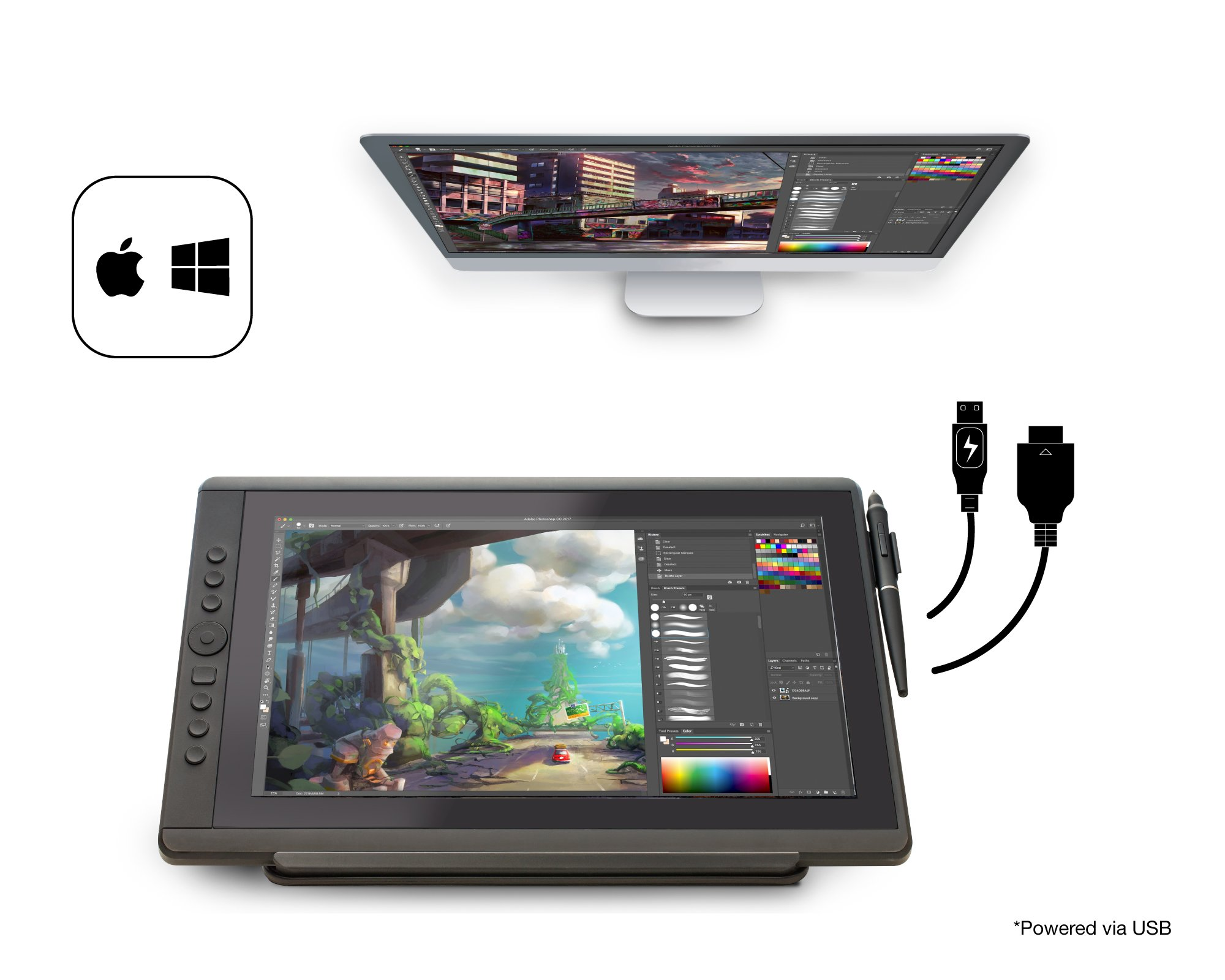 Artisul D16 - 15.6'' LCD Graphics Tablet with Display + Freestyle Stand Bundle … (D16 - 15.6'') by Artisul (Image #4)