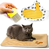 Vangardio Thermal Mat - Self Warming Heating Pad for Pets Cat and Dog Bed - Grooming Glove and Hair Comb included - Perfect 3 in 1 Bundle Gift Set